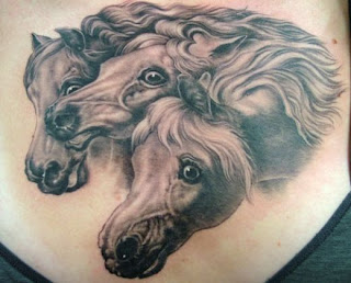 Tattoos Evenged Horse Head Tattoos