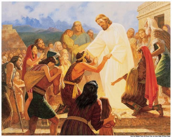 Cristo aparece a los nefitas