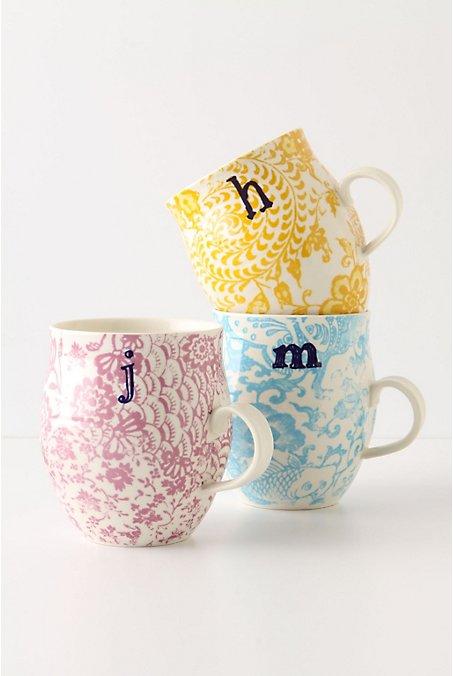 the soho monogram mugs