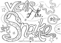 Year Of The Snake Coloring Pages