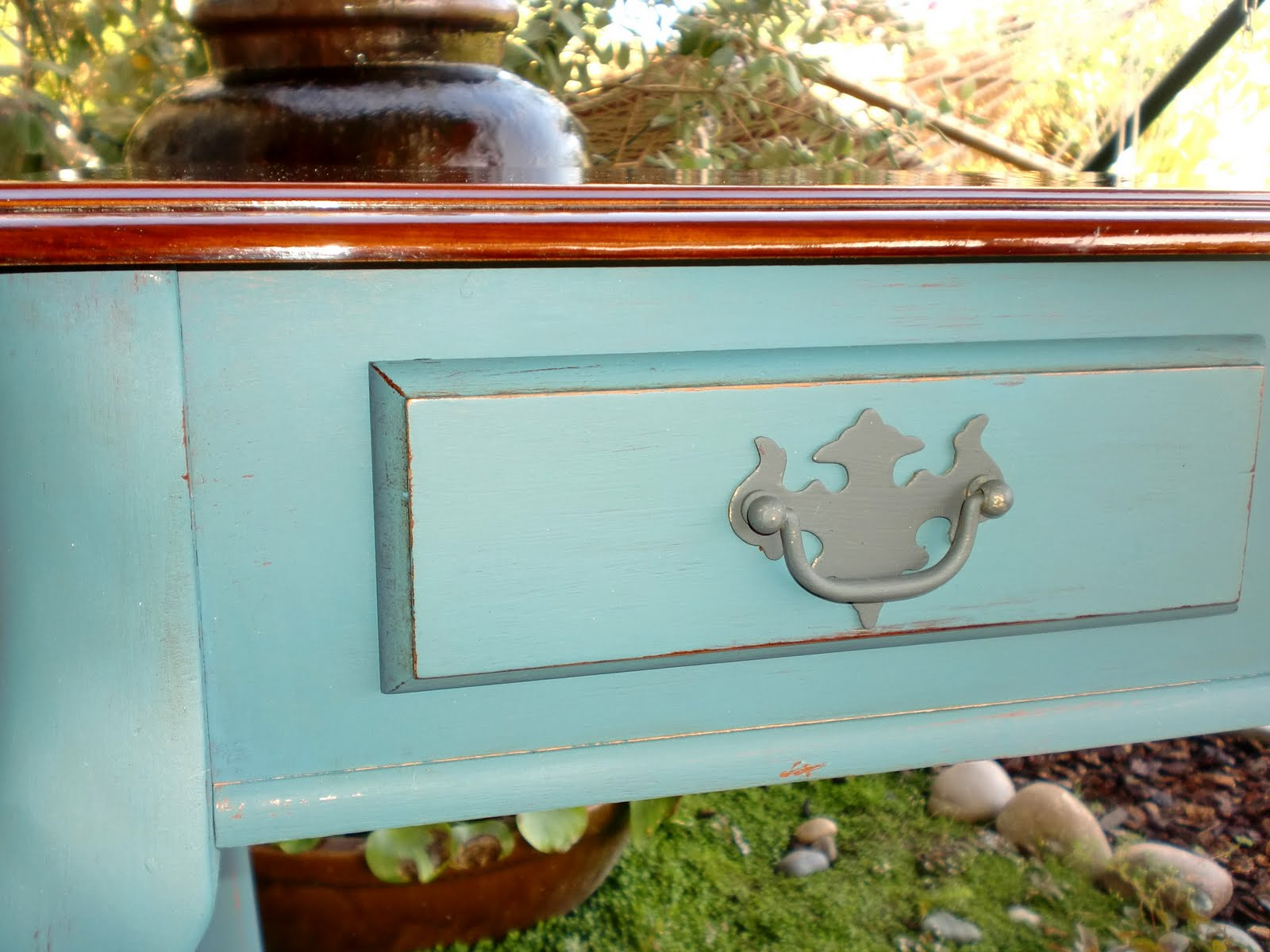 Aubusson Blue Entry Table