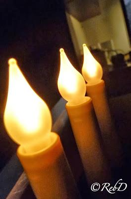 Tre (elektriska) ljus. foto: Reb Dutius