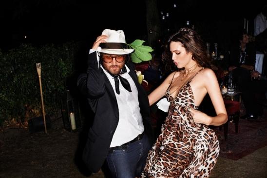 Roberto cavalli at h&m black dress pants