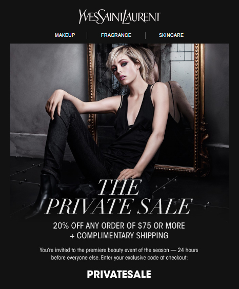 A Private Function...20% off Yves Saint Laurent