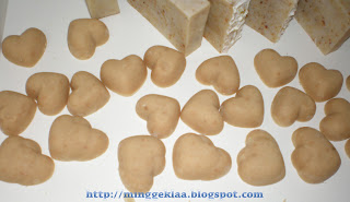 Red Bean Hearts Cold Processed Soap