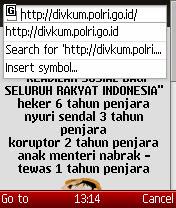 Situs Polri Diretas Hacker