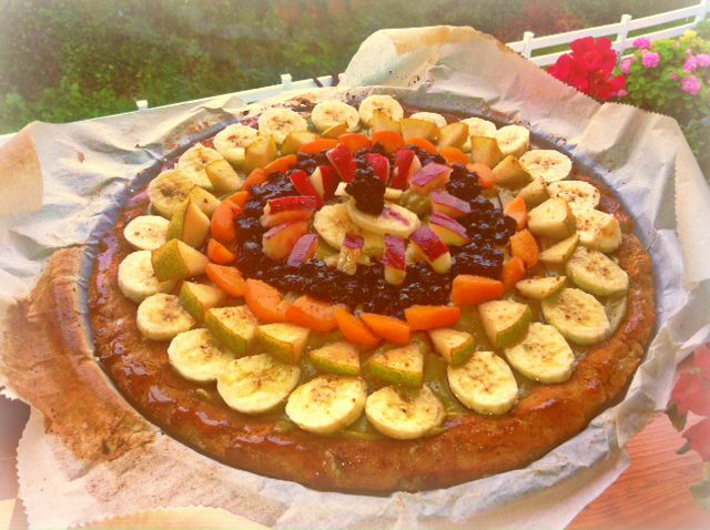 The Peace Patch~: Beautiful Fruit Pizzas for Vegan Pizza Day!