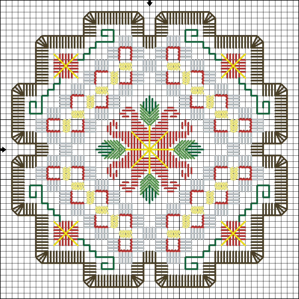 Вышивка хардангер для начинающих схемы 69