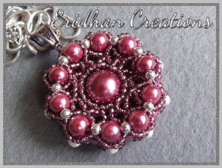 Eridhan creations beading tutorials back to the life with some beaded pendant pattern mozeypictures Choice Image