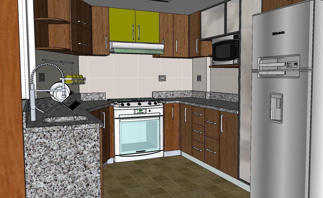 Oniria remodelaci n total de cocina de diez metros cuadrados for Cocinas lineales de cuatro metros