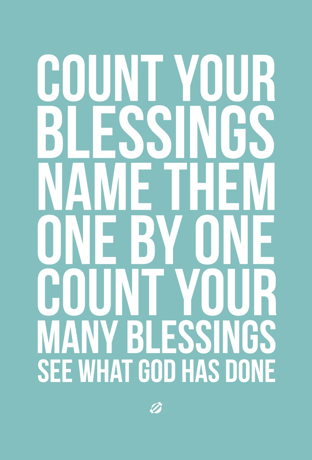 LostBumblebee 2013- COUNT YOUR BLESSINGS V3-TEAL - Free Printable