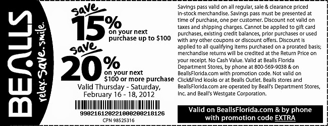 photograph about Free Printable Bealls Florida Coupon known as Bealls florida printable coupon december / Berlin town