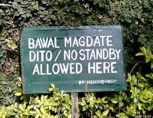 Bawal mag Date Sign  or No Dating  Signage Jokes