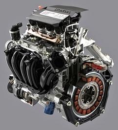 Vista del motor del Honda Civic IMA seccionado