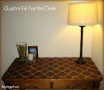 Quatrefoil Painted Desk