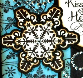Snowflakes close up - top cut with ODBD Snowflake Die, mat layer cut with Silhouette