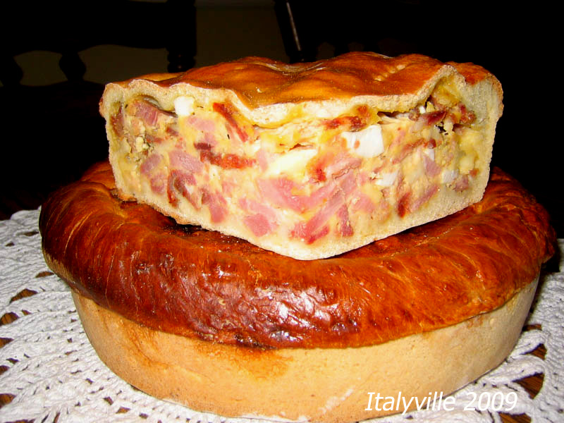 ... . It's an old Sicilian tradition to eat pizza rustica every Easter