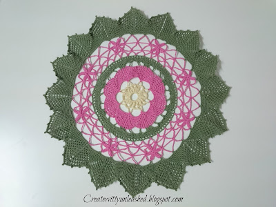 Crochet fan doily