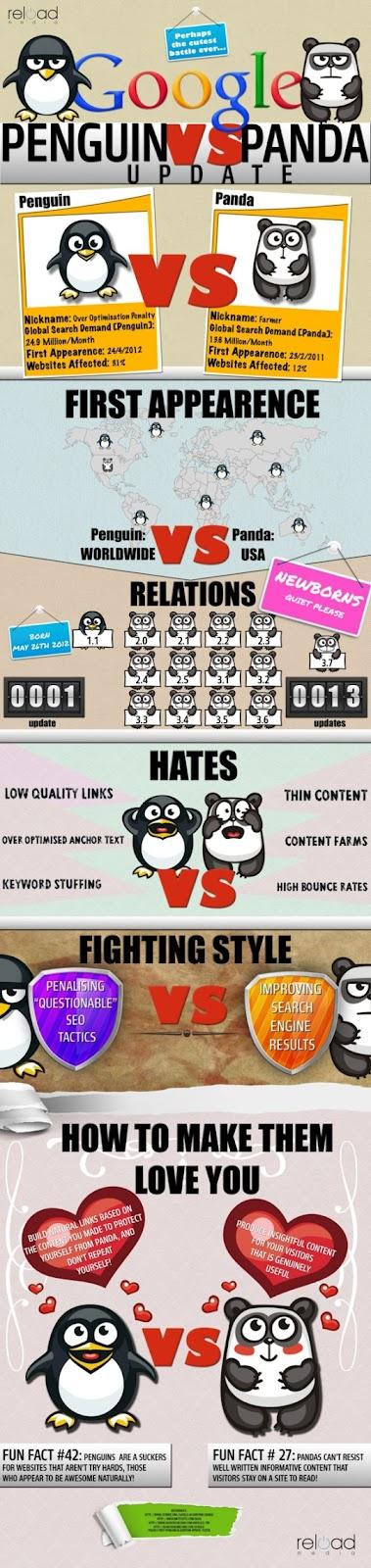 Infographic on Google Panda and Google Penguin