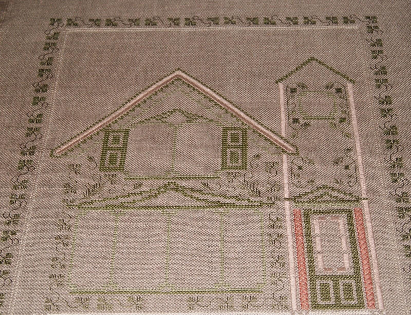 вышивка, домик, украшение интерьера