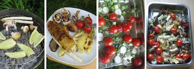 Zubereitung Salat aus gegrilltem Gemüse