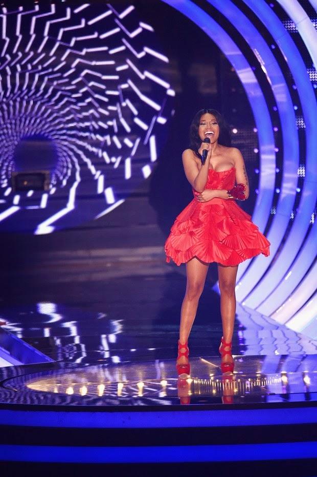 The red outfit Nicki Minaj