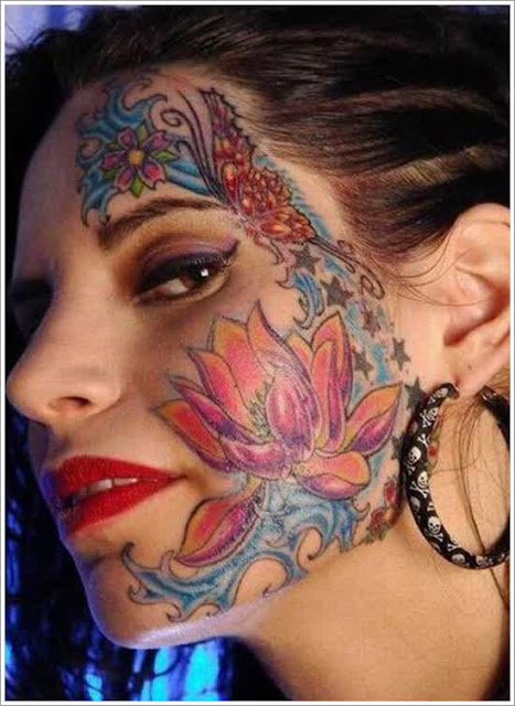 female face tatoo