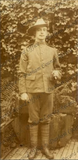 William Thomas Wyllie, possibly 4th Battalion, Durham Light Infantry and the time of the photograph (D/DLI 7/1003/2)