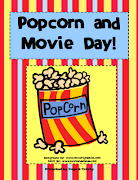 "FREE MISC. LESSON""Popcorn and Movie Day! Theme Days for End of School!"""