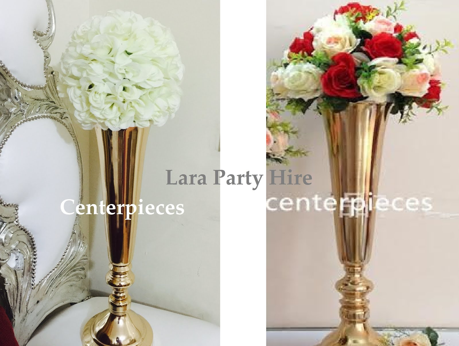 Lara Party Hire: Crystal Chandelier Table Centerpiece