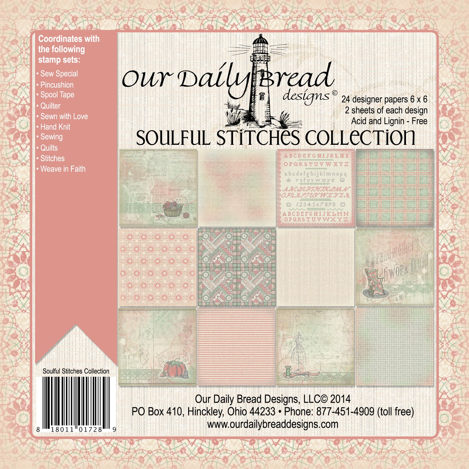 Our Daily Bread Designs Soulful Stitches Paper Collection
