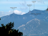 Aproximació als cims del Cogulló d'Estela, Roca d'Auró, la Torreta i el Serrat de la Figuerassa dels Rasos de Peguera