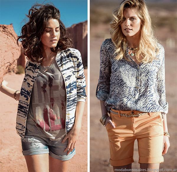 Shorts, bermudas y blusas de moda 2015 Markova. Moda primavera verano 2015.