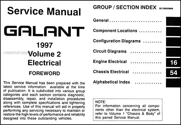 1997 Mitsubishi Galant Repair Manual
