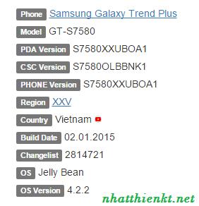 Firmware Samsung Galaxy Trend Plus GT-S7580
