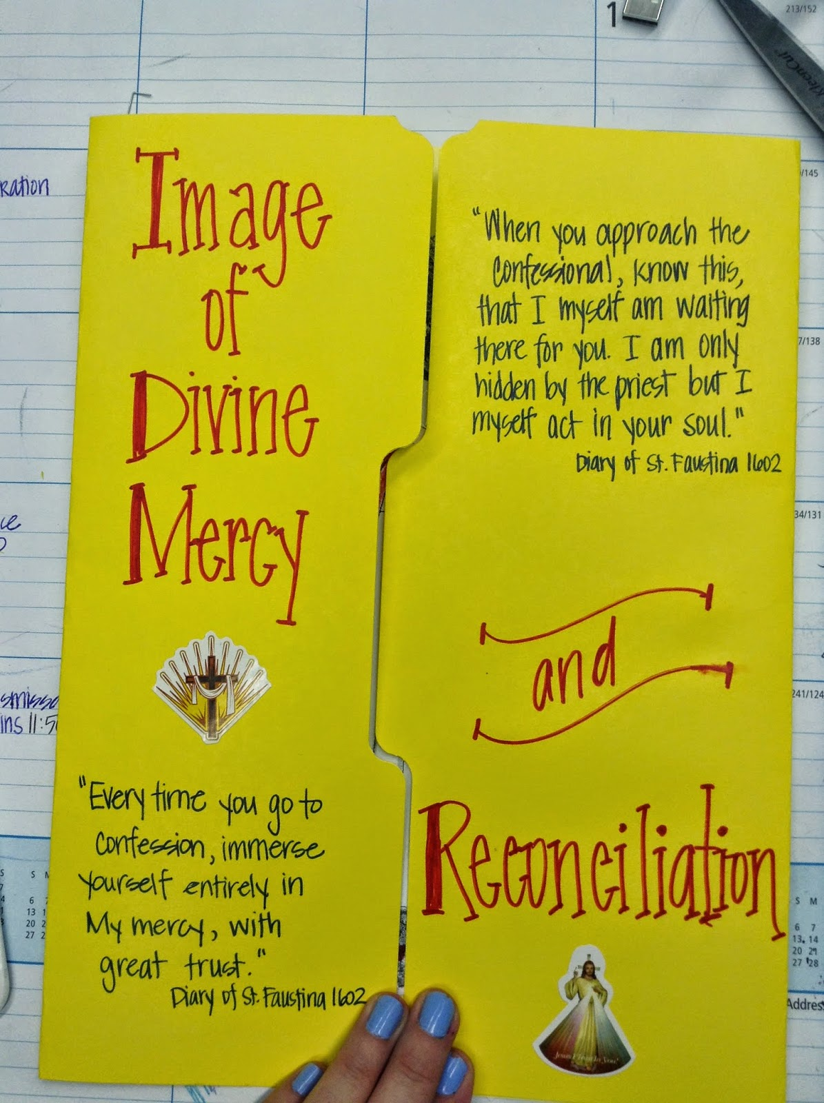 http://looktohimandberadiant.blogspot.com/2013/08/divine-mercy-and-reconciliation-lapbook.html