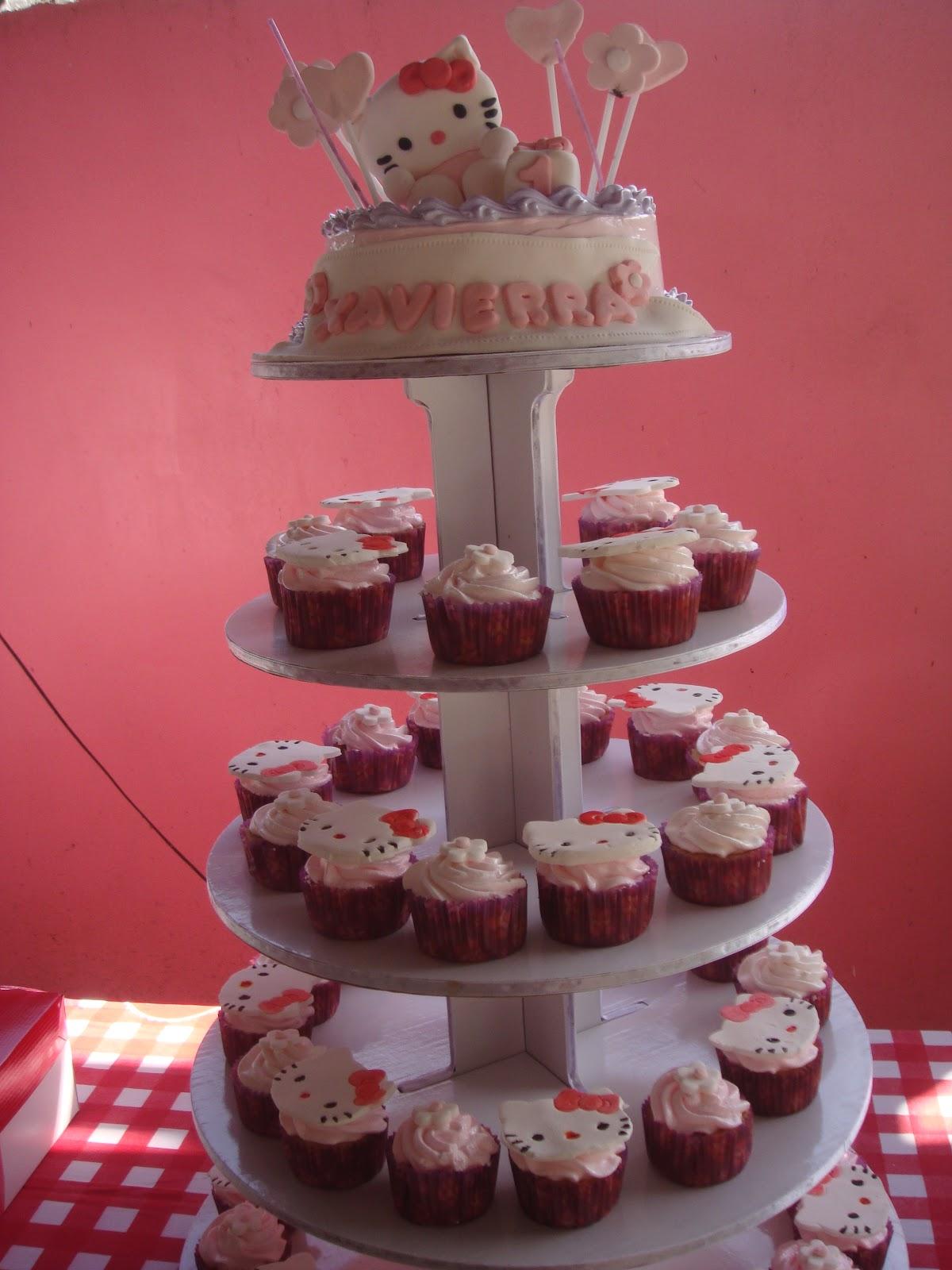 Yencakes Hello Kitty Cupcake Tower