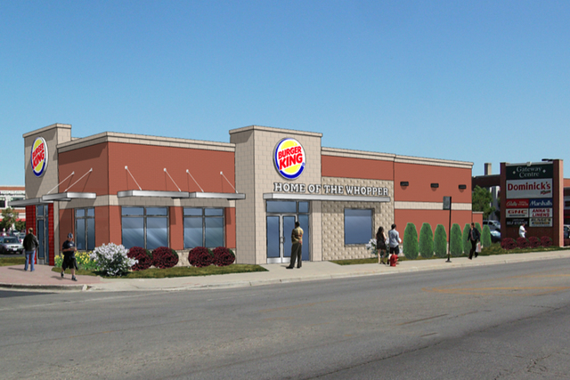 Chevanston Rogers Park Rendering Of New Burger King On Clark
