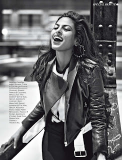 Eva Mendes black and white photo from Glamour France November 2012 Issue