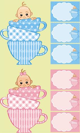 Ilustração para kit digital Chá de Bebê