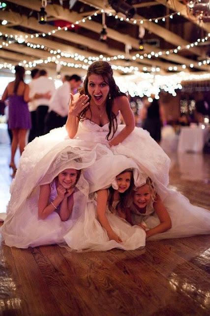 невеста с девочками