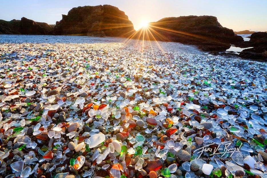 plages de verre