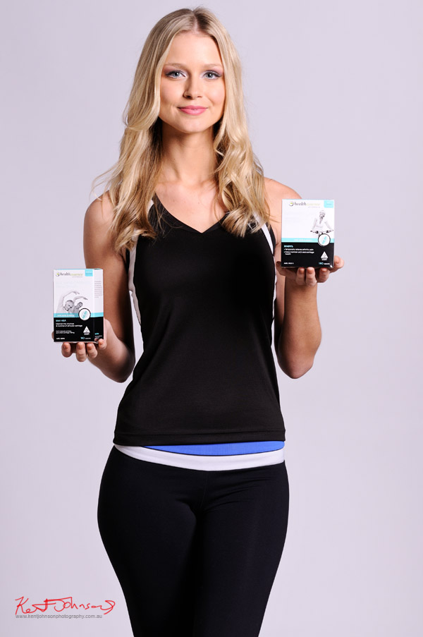 Commercial product and promotional photography with Miss Universe Australia Renae Ayris, sportswear.
