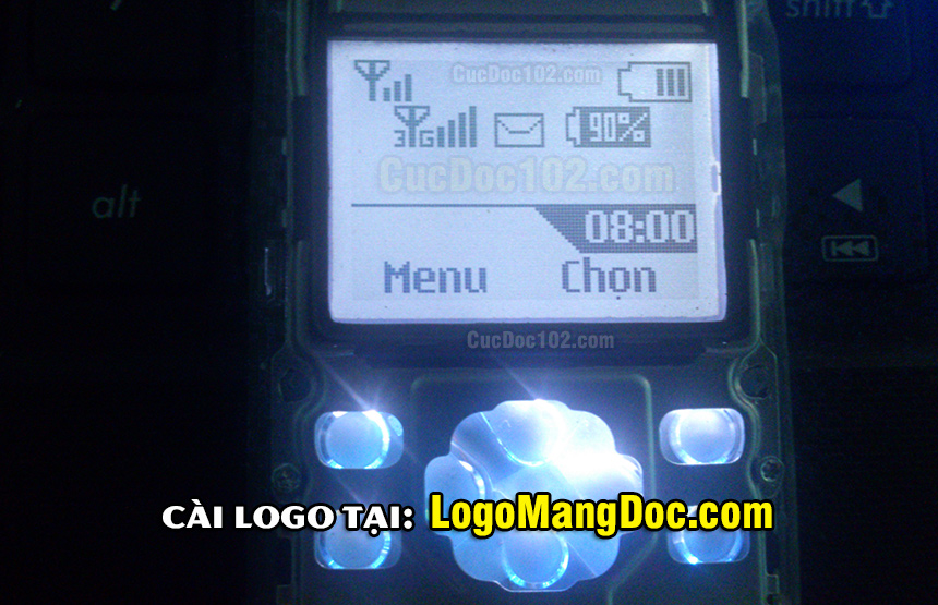 logo mạng 3g online cho 1280. Mã số logo 3g online 1202 đen trắng, logo mạng độc