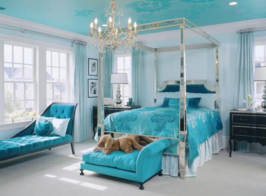 If you have examples of rooms in your house with painted ceilings, please  send them my way!