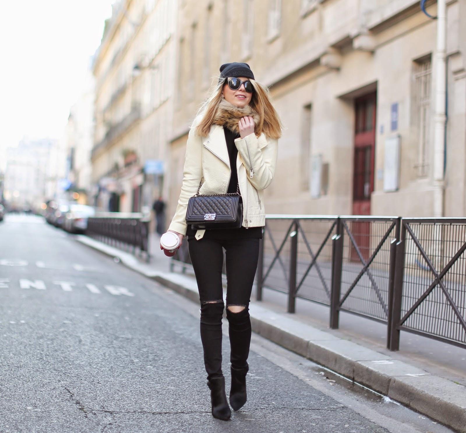 zara, topshop, homies, black and white, chanel, streetstyle, fashion blogger, paris