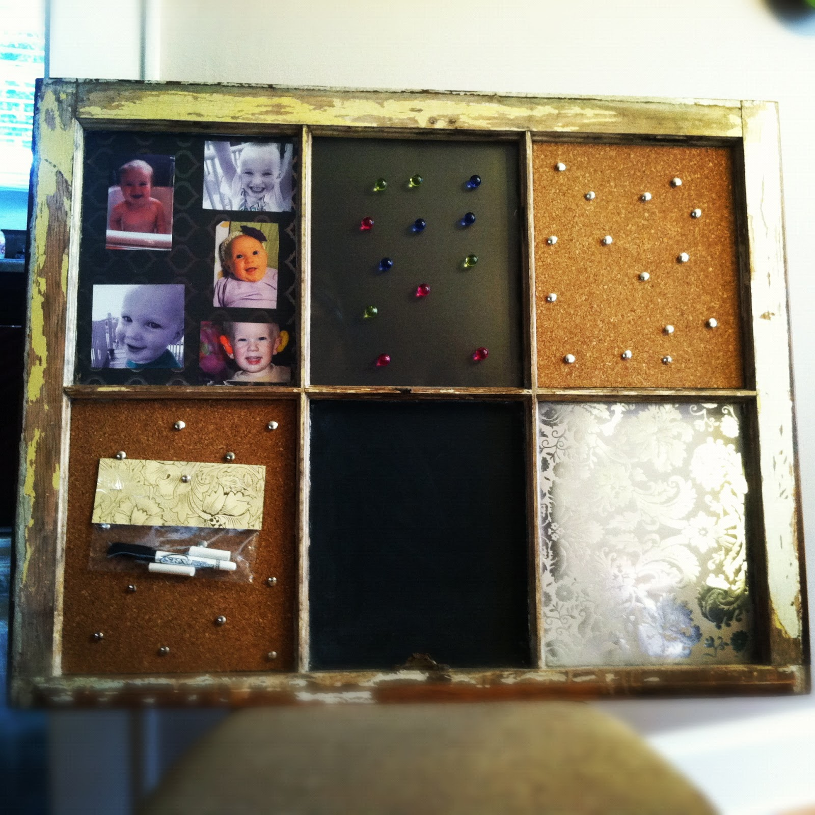 The burnett brood diy recycled window picture frames for Recycled window frames