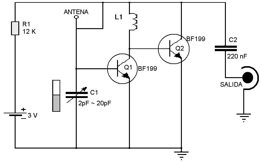 Circuito Sencillo : Amplificadores de audio sencillo receptor para fm
