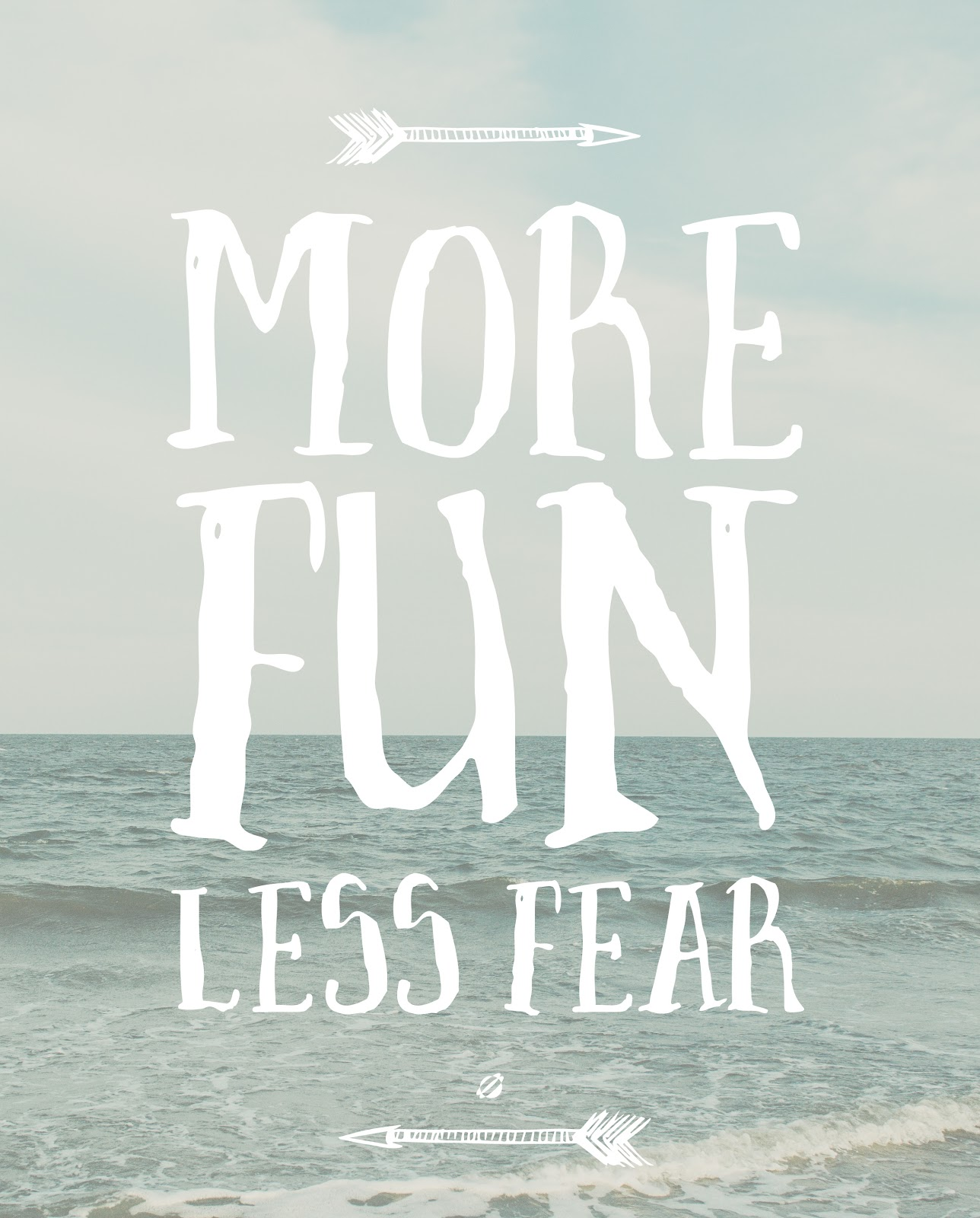 LostBumblebee ©2015 Free Printable : More FUN LESS FEAR : Personal use only.
