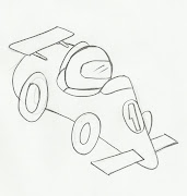 Desenho carrinho de corrida para imprimir e colorir